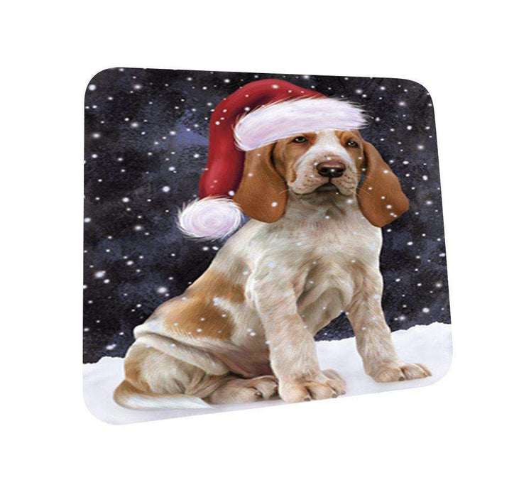 Let It Snow Happy Holidays Bracco Italiano Dog Christmas Coasters CST264 (Set of 4)
