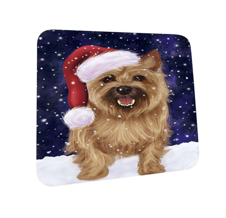 Let It Snow Happy Holidays Bull Terrier Dog Christmas Coasters CST267 (Set of 4)