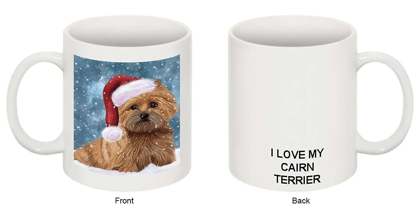 Let It Snow Happy Holidays Cairn Terrier Dog Christmas Mug CMG0363