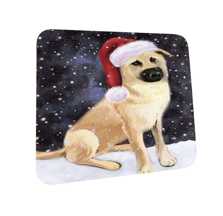Let It Snow Happy Holidays Chinook Dog Christmas Coasters CST280 (Set of 4)