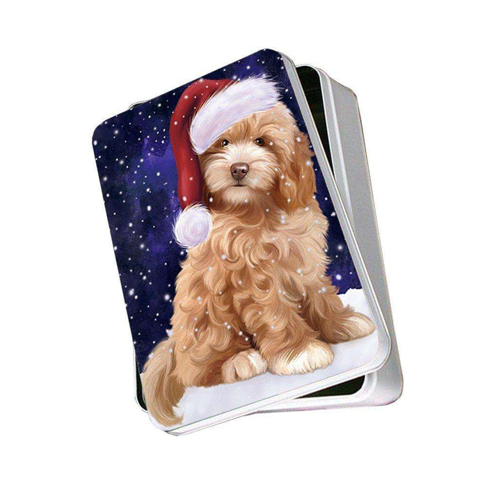 Let It Snow Happy Holidays Cockapoo Dog Christmas Photo Storage Tin PTIN0379