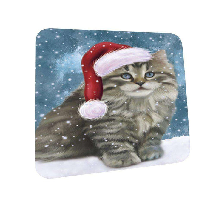Let It Snow Happy Holidays Persian Cat Christmas Coasters CST322 (Set of 4)