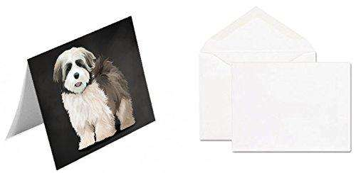 Lhasa Apso Dog Greeting Card