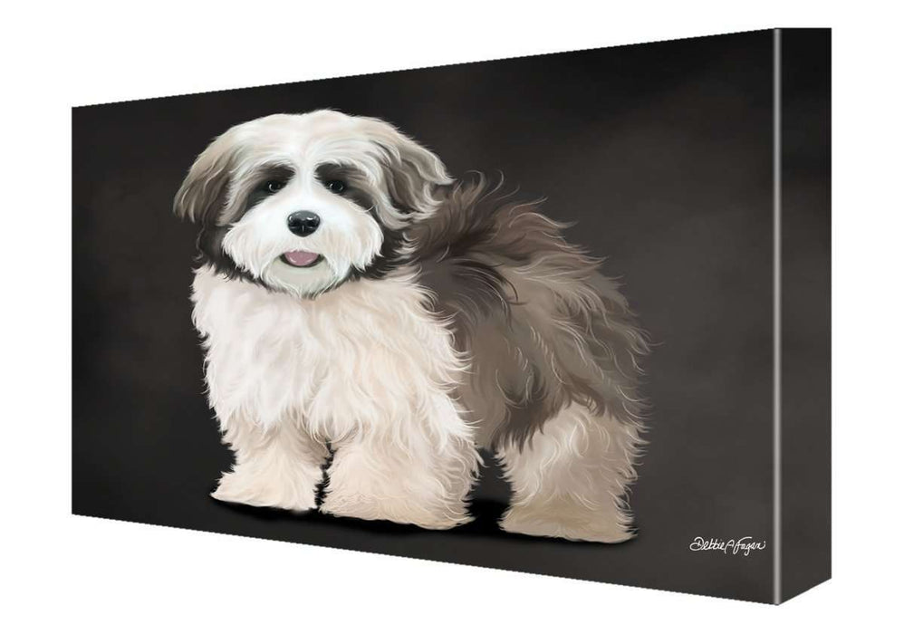 Lhasa Apso Dog Painting Printed on Canvas Wall Art Signed