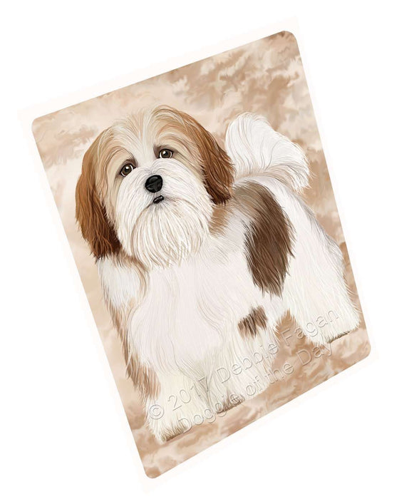 Lhasa Apso Dog Tempered Cutting Board