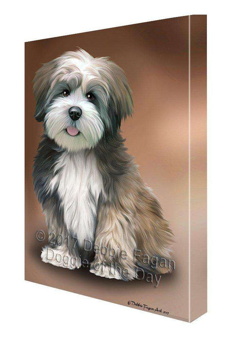 Lhasa Apso Dog Wall Art Canvas CV198