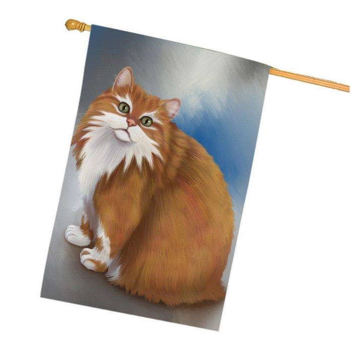 Long Haired Manx Cat House Flag