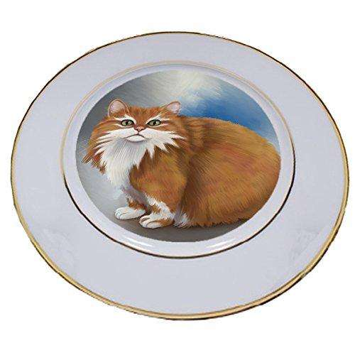 Long Haired Manx Cat Porcelain Plate