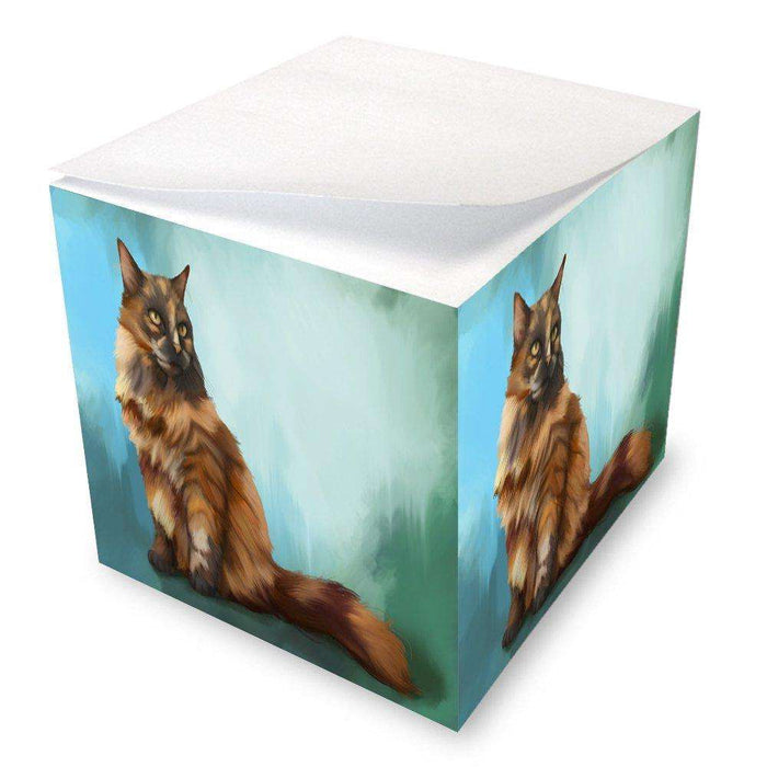 Long Haired Tortoiseshell Cat Note Cube