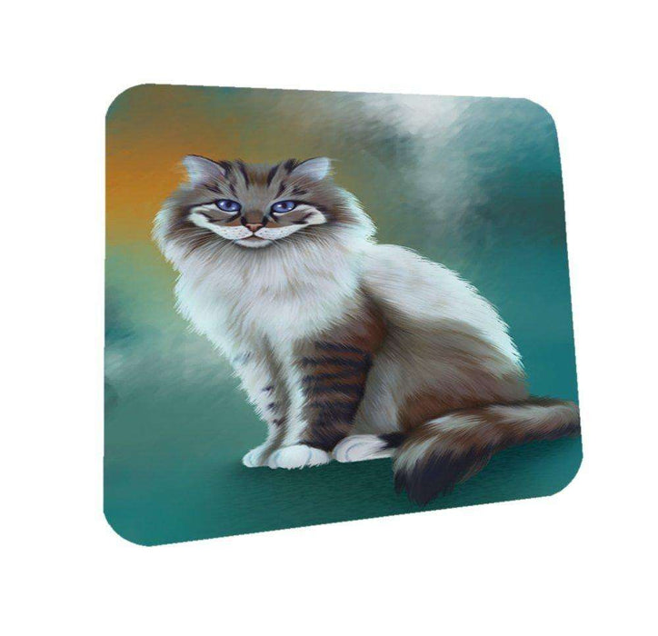 Longhaired Cat Coasters Set of 4