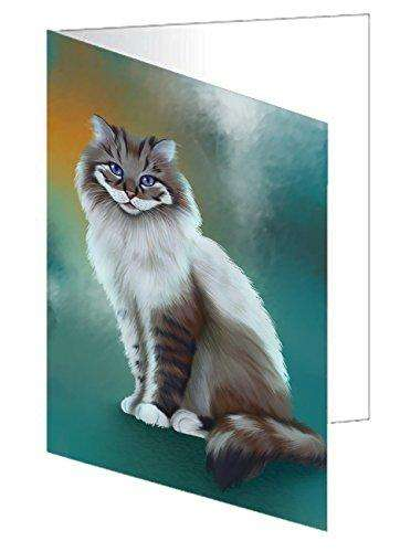Longhaired Cat Greeting Card