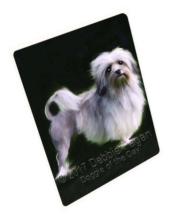 Lowchen Dog Art Portrait Print Woven Throw Sherpa Plush Fleece Blanket D351