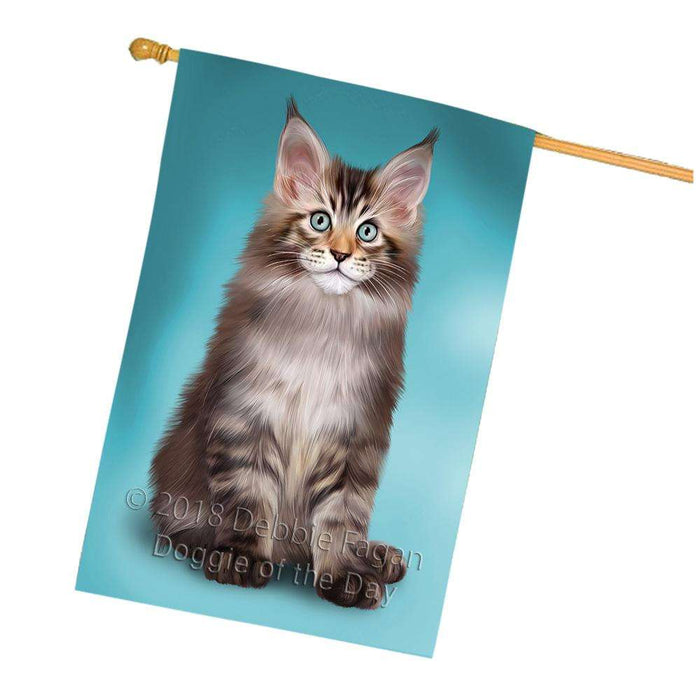 Maine Coon Cat House Flag FLG51896