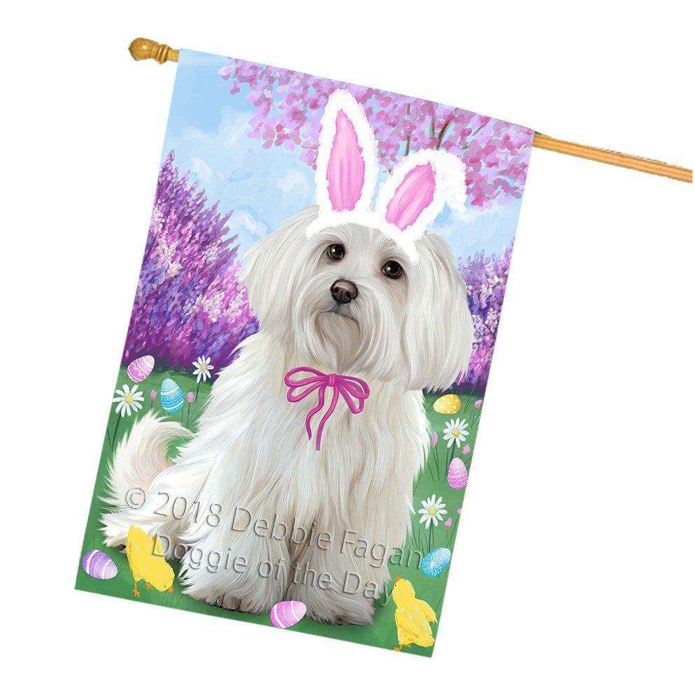 Maltese Dog Easter Holiday House Flag FLG49281