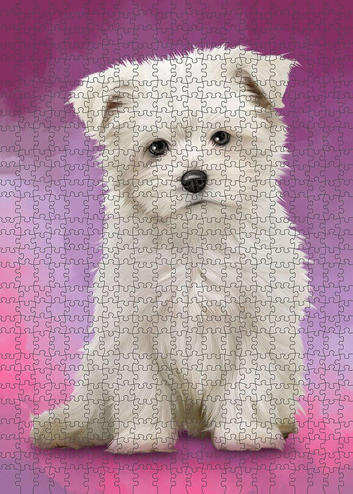 Maltese Dog Puzzle with Photo Tin PUZL1584