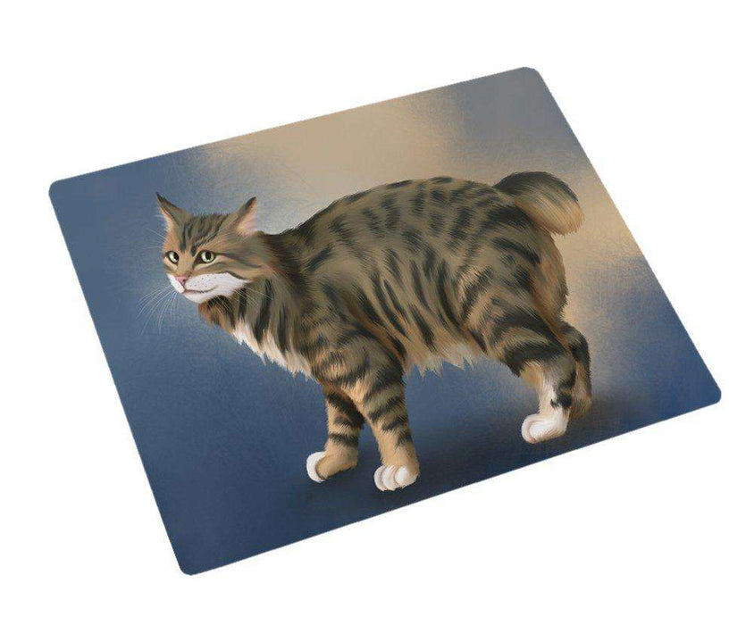 Manx Cat Art Portrait Print Woven Throw Sherpa Plush Fleece Blanket