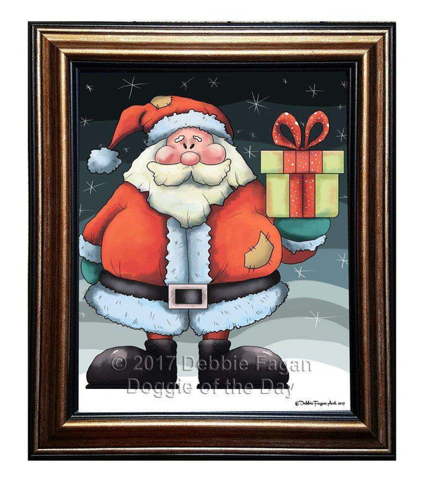 Merry Christmas Happy Holiday Framed Canvas Print Wall Art