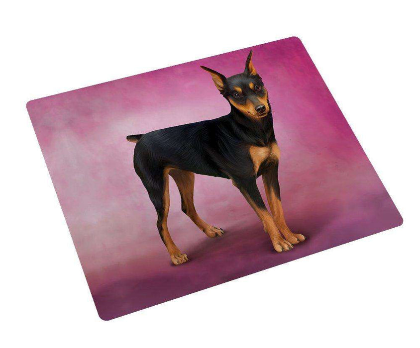 Miniature Pinscher Dog Art Portrait Print Woven Throw Sherpa Plush Fleece Blanket