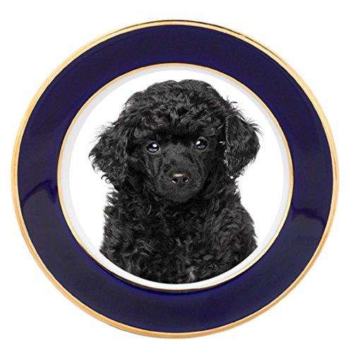 Miniature Poodle Puppy Dog Porcelain Plate