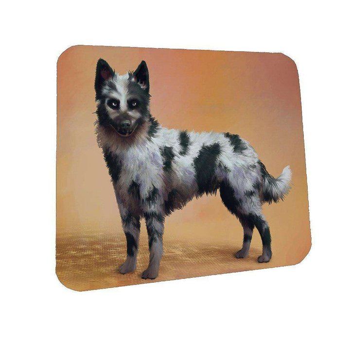 Mudi Black Merle Dog Coasters Set of 4