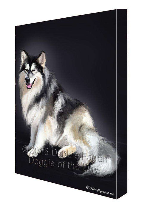 Native American Indian Dog Painting Printed on Canvas Wall Art