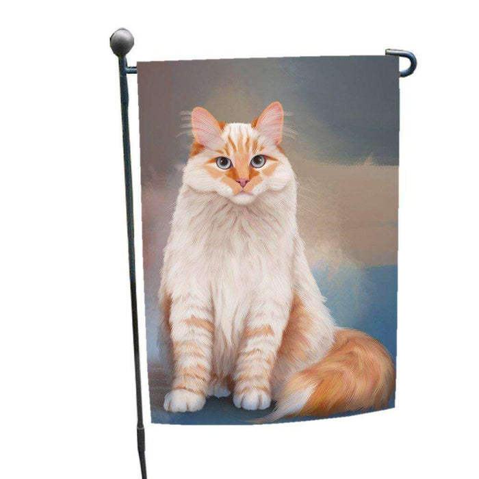 Neva Masquerade Red Siberian Cat Garden Flag