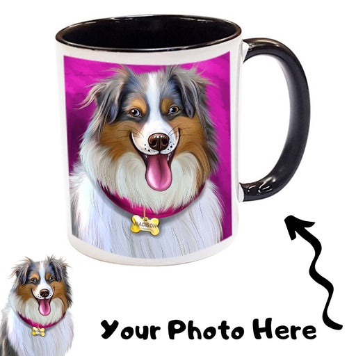 Add Your PERSONALIZED PET Painting Portrait Photo on Coffee Mug