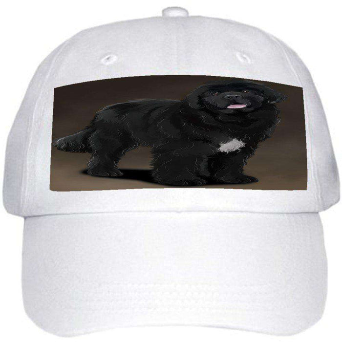 Newfoundland Black Dog Ball Hat Cap Off White