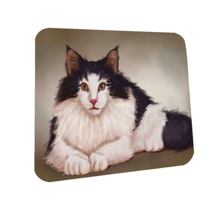 Norwegian Forest Cat Coasters Set of 4