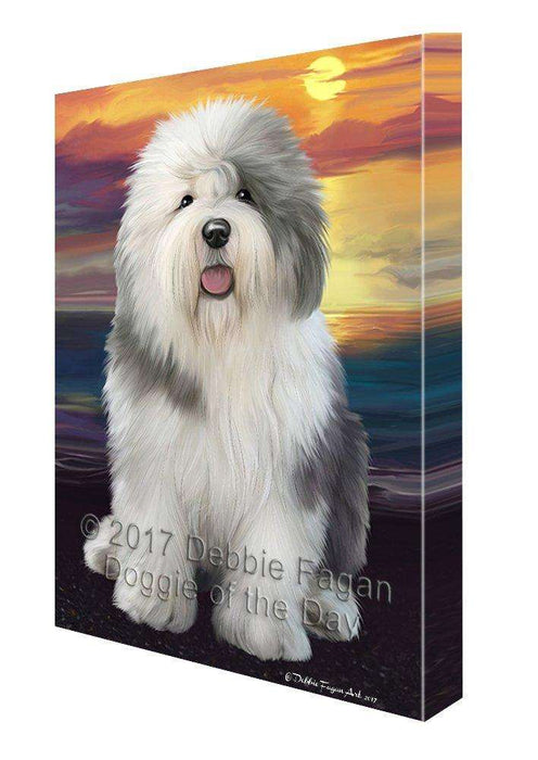 Old English Sheepdog Dog Wall Art Canvas CV202