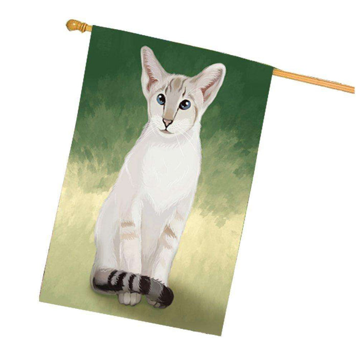 Oriental Blue Point Siamese Cat House Flag