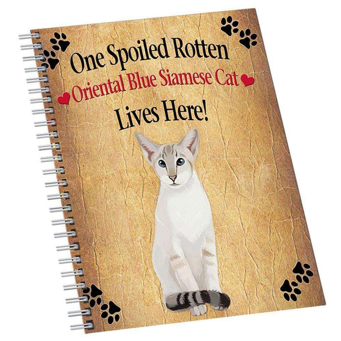 Oriental Blue Point Siamese Spoiled Rotten Cat Notebook