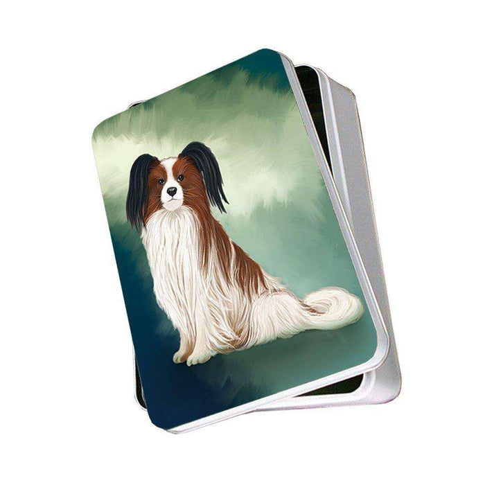 Papillion Dog Photo Storage Tin PITN48012