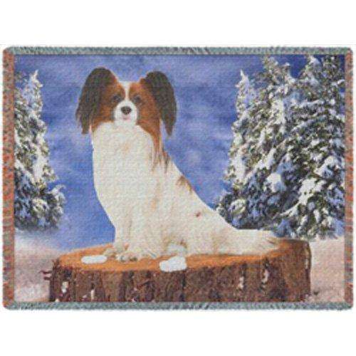 Papillion Dog Woven Throw Blanket 54 x 38