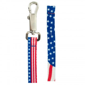 10 Patriotic Nylon Adjustable Dog Leashes Wholesale DNSX
