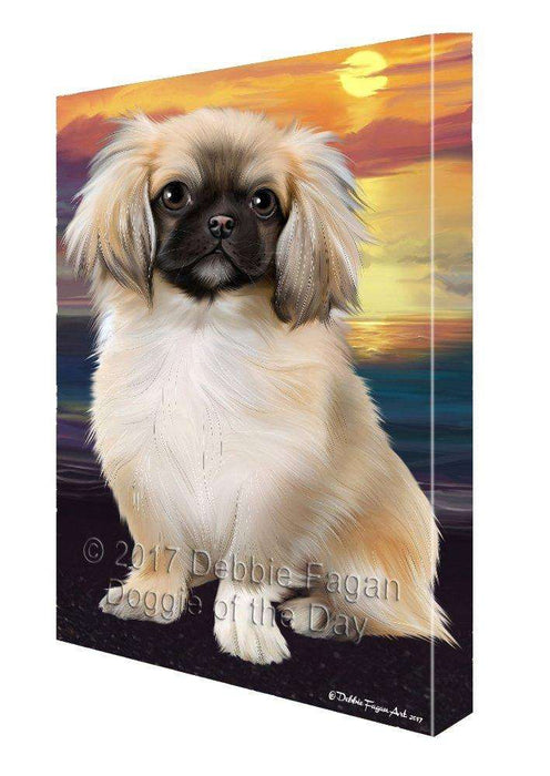 Pekingese Dog Canvas Wall Art D448