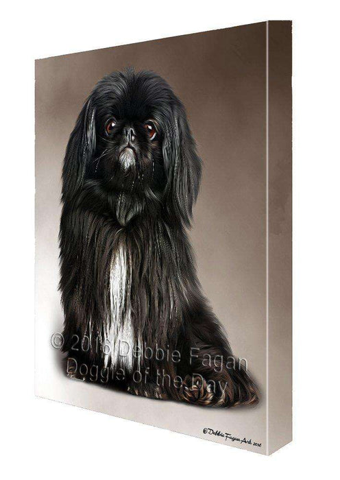Pekingese Dog Painting Printed on Canvas Wall Art