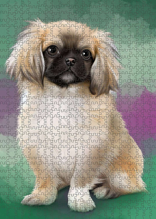 Pekingese Dog Puzzle with Photo Tin PUZL1599