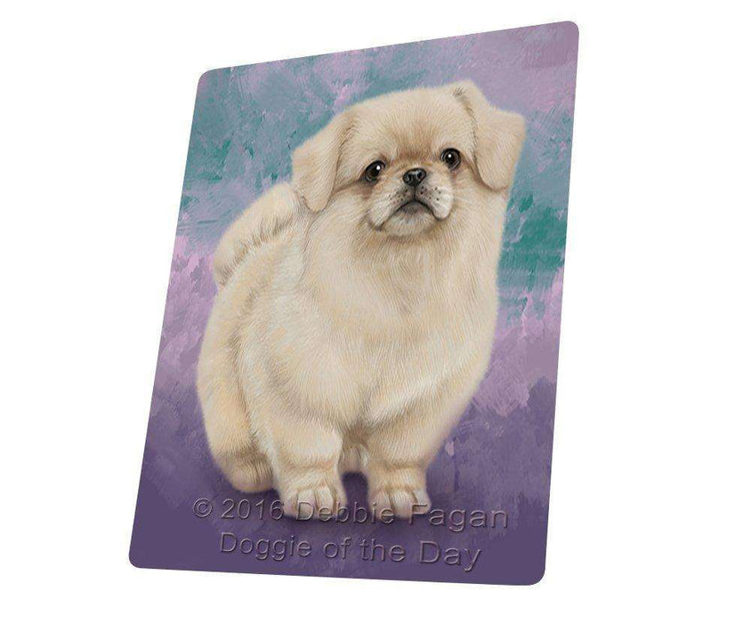 Pekingese Dog Tempered Cutting Board C48027