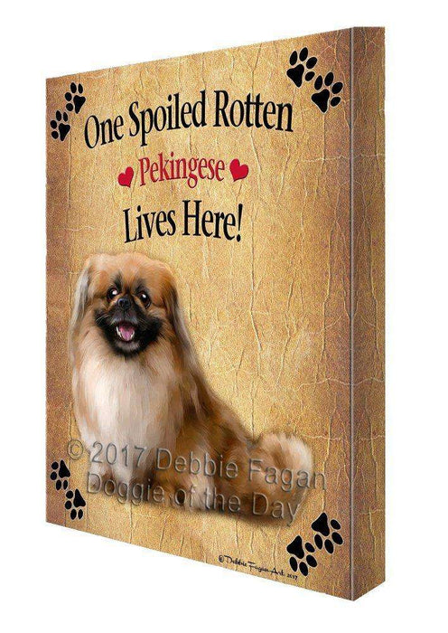 Pekingese Spoiled Rotten Dog Canvas Wall Art D511