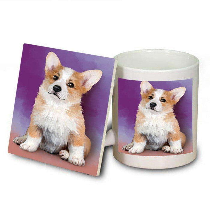 Pembroke Welsh Corgi Dog Mug and Coaster Set