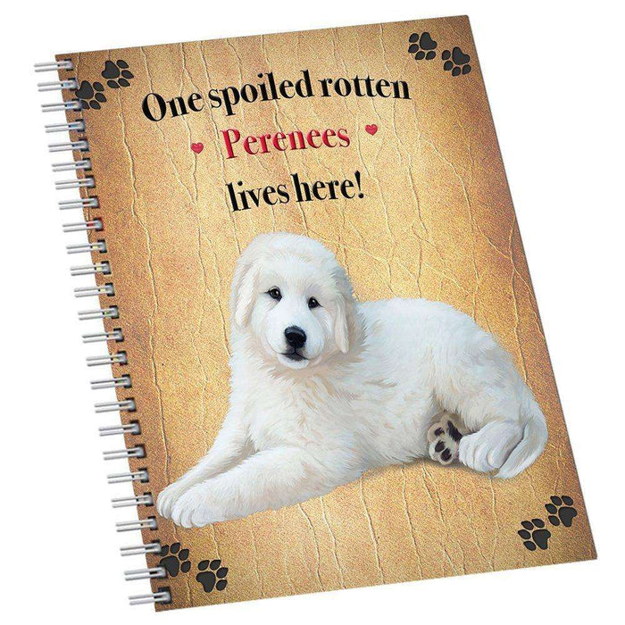 Perenees Spoiled Rotten Dog Notebook