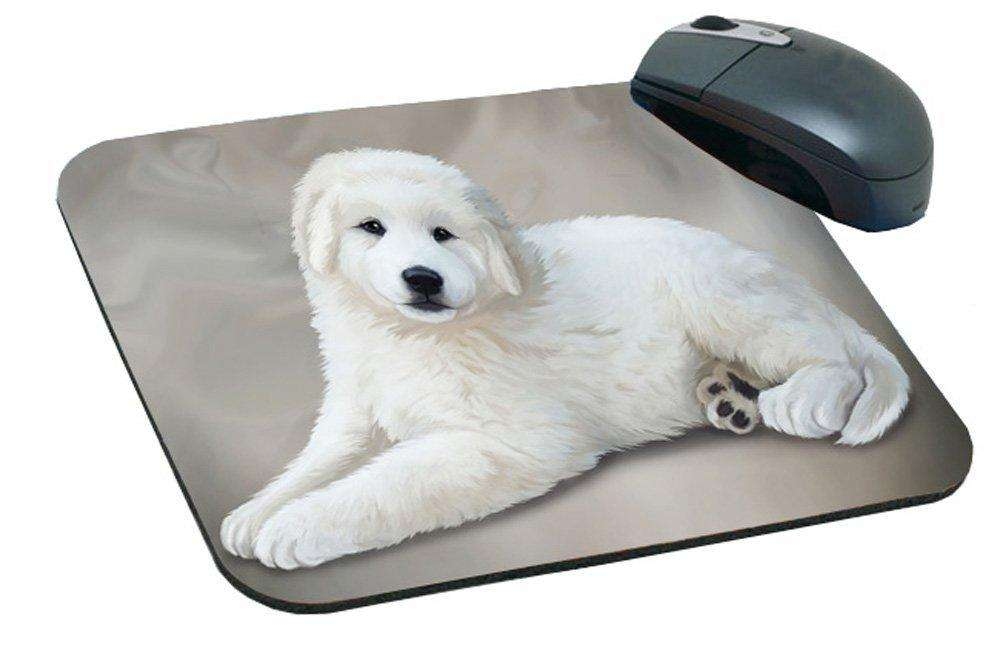Pereneese Dog Art Portrait Print Mousepad