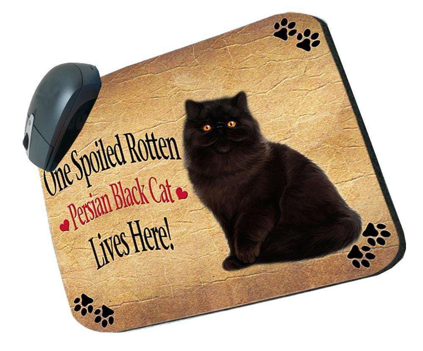 Persian Black Spoiled Rotten Cat Mousepad