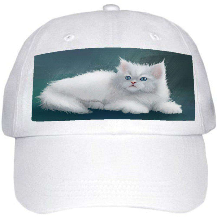 Persian Cat Ball Hat Cap Off White