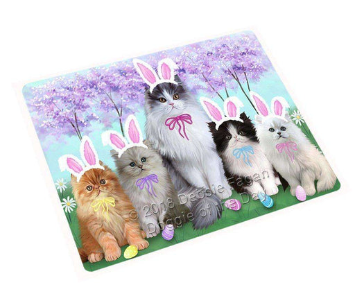 Persian Cat Easter Holiday Tempered Cutting Board C51870