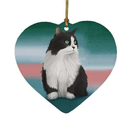 Persian Cat Heart Christmas Ornament HPOR48031