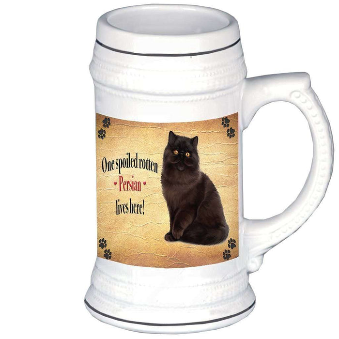 Persian Spoiled Rotten Cat Beer Stein