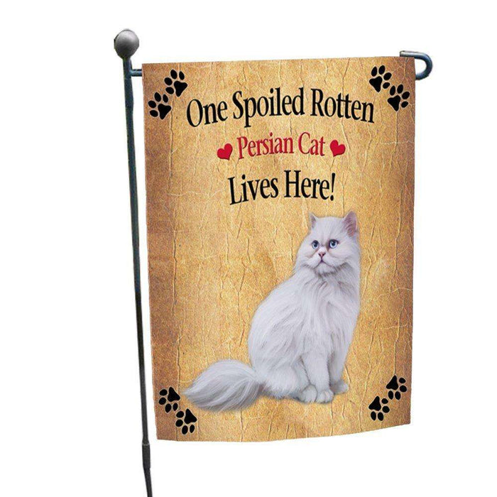 Persian Spoiled Rotten Cat Garden Flag