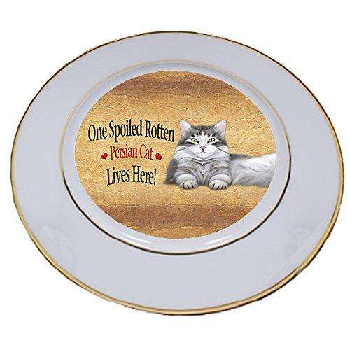 Persian Spoiled Rotten Cat Porcelain Plate